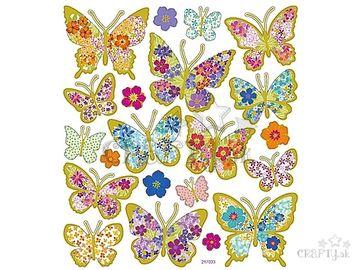 Kreatívne nálepky - zlaté motýle