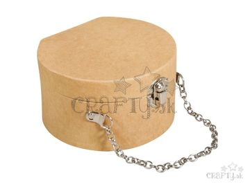 Kufrík z Papier-mâché s retiazkou - 12,5x11,7cm