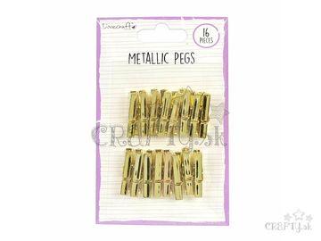 Metalické dekoračné štipce 35mm - zlaté