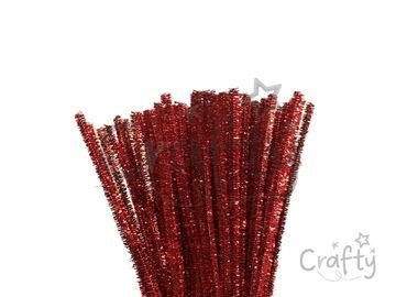 Metalický žinilkový drôt 6mm - červený