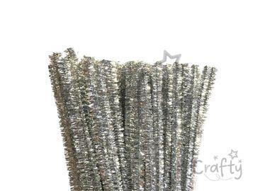 Metalický žinilkový drôt 6mm - strieborný