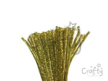 Metalický žinilkový drôt 6mm - zlatý