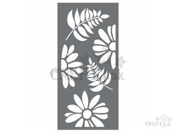 MixMedia šablóna 12x25cm - kvety