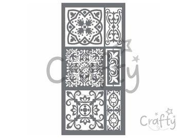 MixMedia šablóna 12x25cm - maroko mozaika