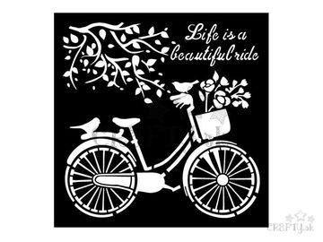 MixMedia šablóna 18x18cm - bicykel