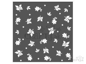 MixMedia šablóna 18x18cm - kvetinová tapeta