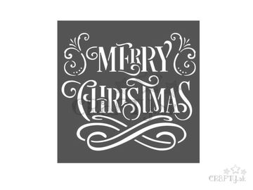 MixMedia šablóna 18x18cm - Merry Christmas
