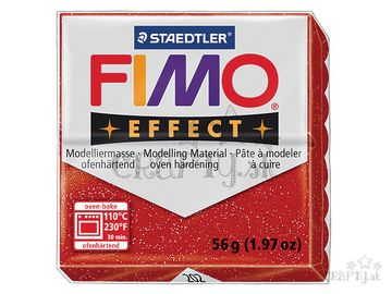 Modelovacia hmota FIMO Effect 56g - červená s glitrami