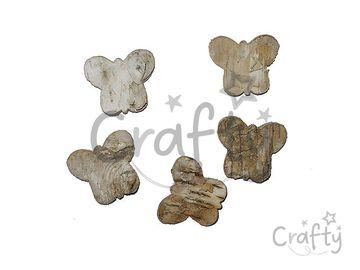 Motýle z brezovej kôry - 5 ks