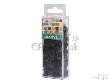Mramorované mozaikové kamienky 1x1cm 50g - čierne