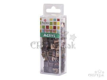 Mramorované mozaikové kamienky 1x1cm 50g - hnedé