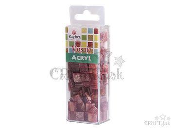 Mramorované mozaikové kamienky 1x1cm 50g - perzská červená