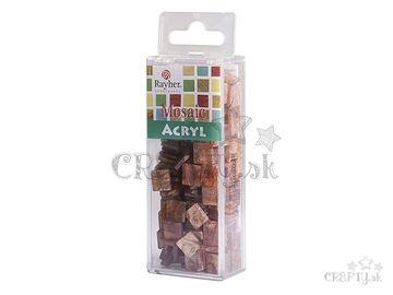 Mramorované mozaikové kamienky 1x1cm 50g - škorica