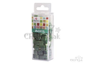 Mramorované mozaikové kamienky 1x1cm 50g - zelené