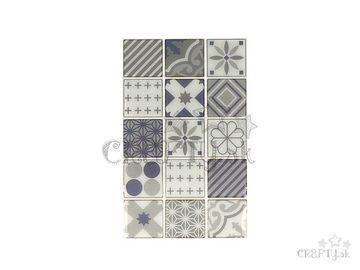 Nálepky na obklad mozaikové 4cm - 30ks - sivé