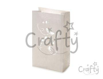 Nehorľavý papierový lampáš 26x15x9cm - motýle