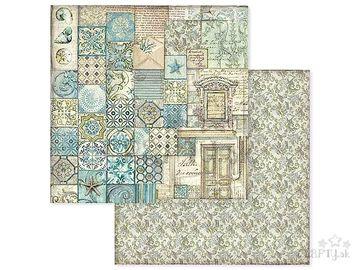 Obojstranný scrapbook papier 30,5cm - maroko mozaika