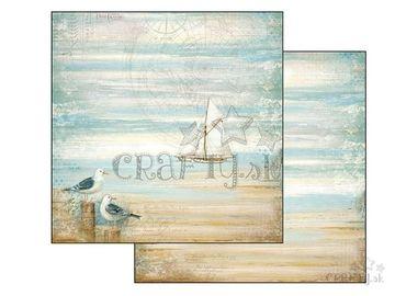 Obojstranný scrapbook papier 30,5cm - more a plachetnica
