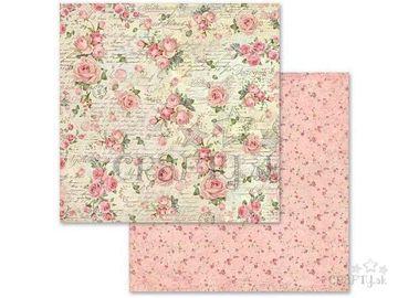 Obojstranný scrapbook papier 30,5cm - ruže