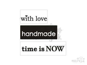 Odlievacia pečiatka do mydla - handmade, with love, time is now