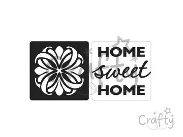 Odlievacia pečiatka do mydla - Home sweet Home