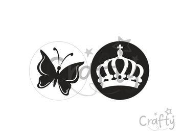 Odlievacia pečiatka do mydla - motýľ a koruna