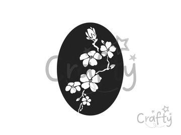 Odlievacia pečiatka do mydla - sakura