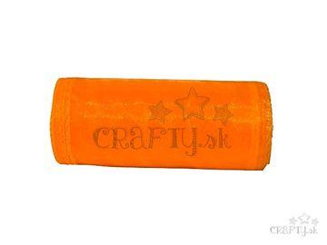Organzová stuha 12cm x 7m - neónovo oranžová