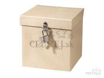 Papier-mâché krabica so zámkom