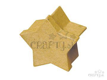 Papier-mâché krabička 8x5cm - hviezda