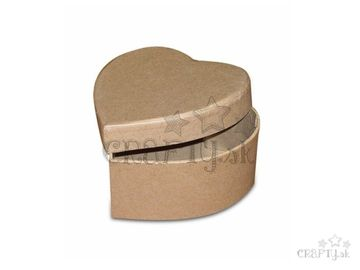 Papier-mâché krabička 8x8cm - srdce
