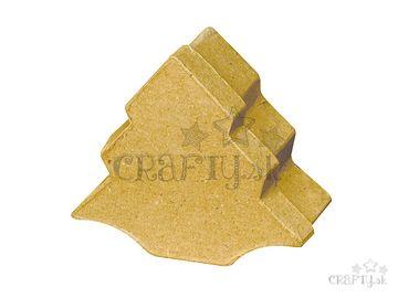 Papier-mâché krabička 9,5x10cm - stromček