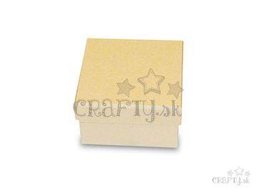 Papier-mâché krabička 9x9x5cm