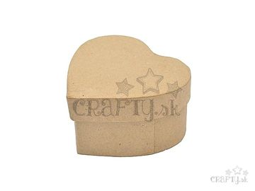 Papier-mâché krabička srdce - 9x8cm