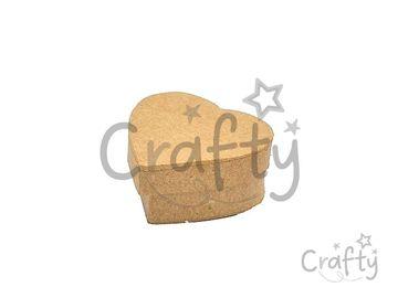 Papier-mâché mini krabička srdce - 5,5cm