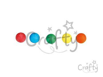 Papierové (vatové) guličky farebné - 20mm 20ks