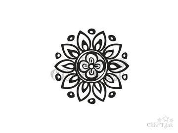 Pečiatka 3cm - kvet mandala