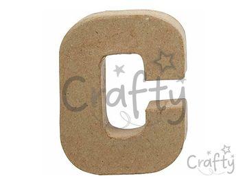 Písmeno z papier-mâché 10cm - C