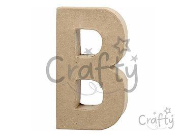 Písmeno z papier-mâché 20,5cm - B