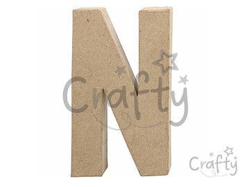 Písmeno z papier-mâché 20,5cm - N