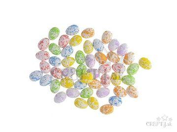 Polystyrénové mini vajíčka 2,5cm - fľakaté pastelové