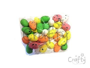 Polystyrénové vajíčka 3,5cm - farebný mix