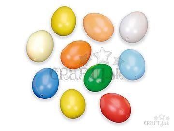 Plastové vajíčka 6cm 10ks