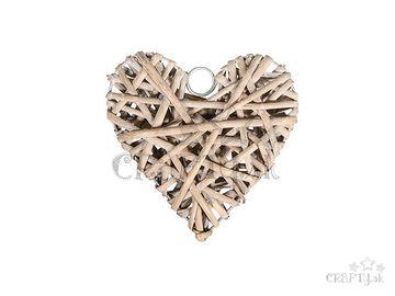 Ratanové závesné srdce 10cm