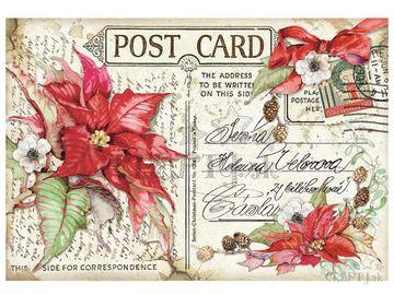 Ryžový papier 48x33cm - Vianočná pohľadnica