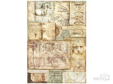 Ryžový papier A3 - Leonardove diela