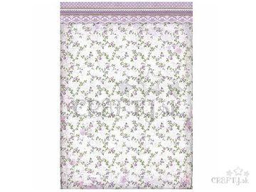 Ryžový papier A3 - tapeta mini fialové ruže
