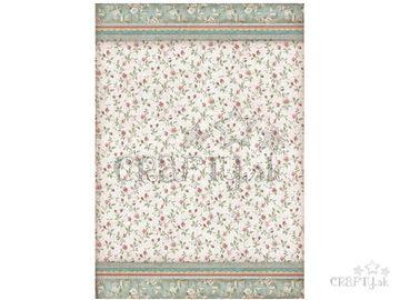 Ryžový papier A3 - tapeta ružičky