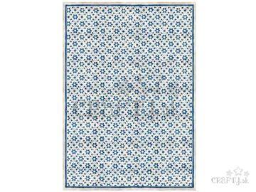 Ryžový papier A3 - textúra s modrými kvietkami