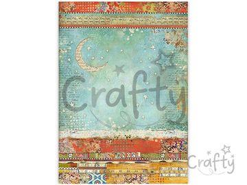 Ryžový papier A3 - vianočný patchwork - mesiac